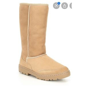 Ugg Ultra Tall Revival Suede Tan Cream Boots Sz 7